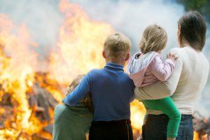 Wohngebäudeversicherung deckt Brand Schäden